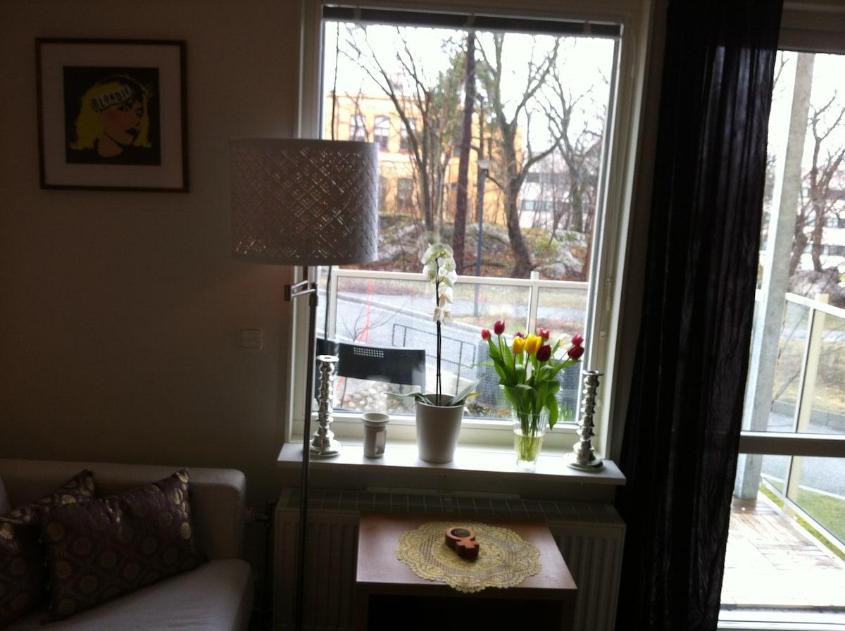 Cosy, central 1-room flat w balcony