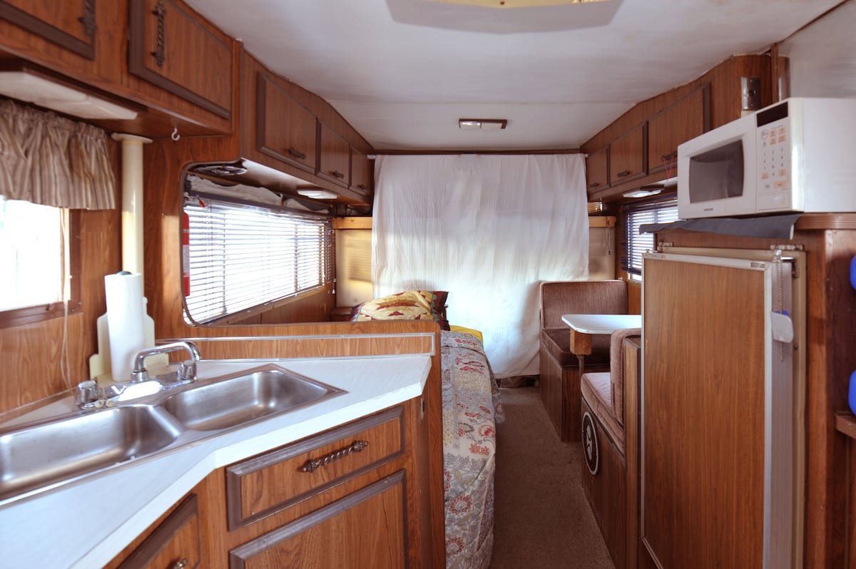 Vintage motor-home; comfy and clean