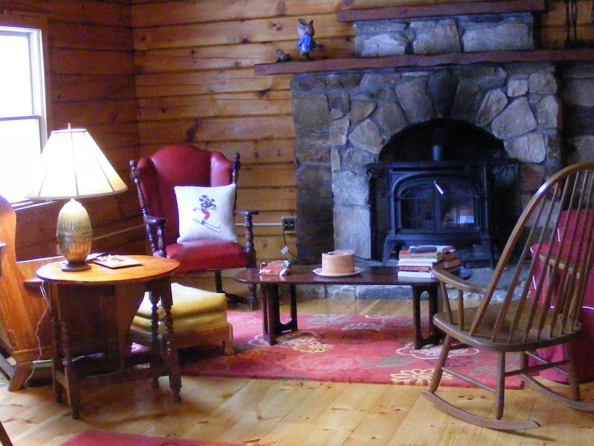 Log Home nestled in White Mountains