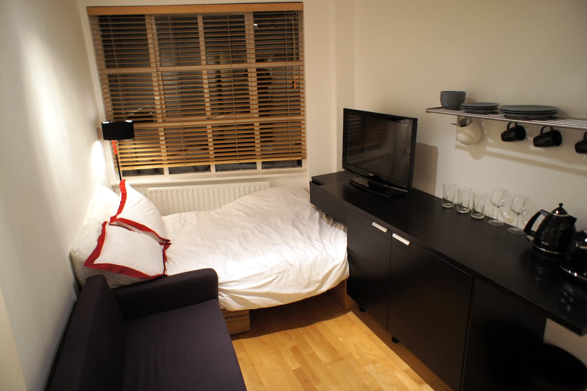 This is your private studio with kitchenette and en suite bathroom.