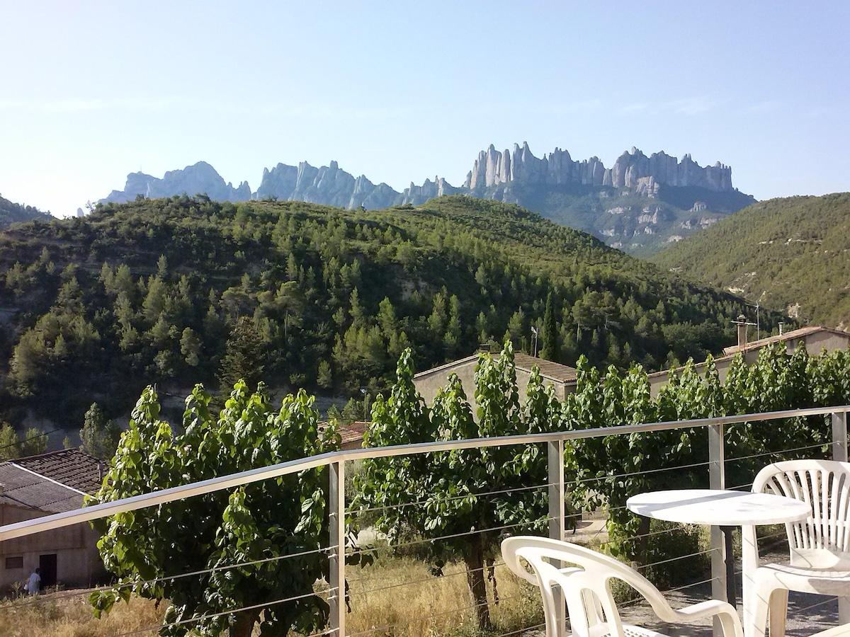Hab. casa con vistas a Montserrat