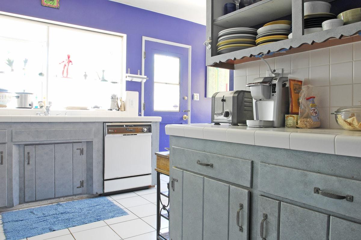 Common area, the kitchen
