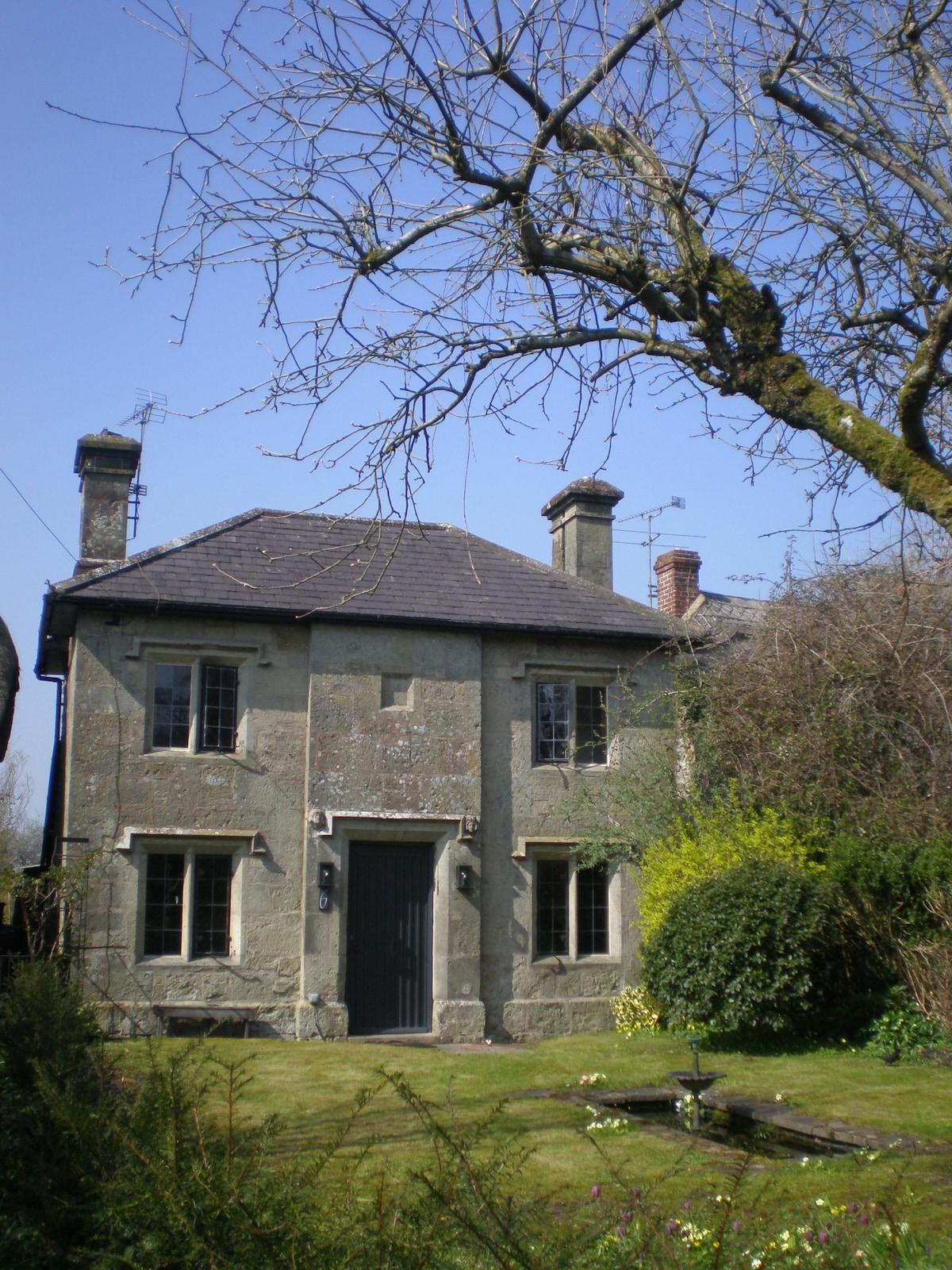 Stillness within a stone cottage.
