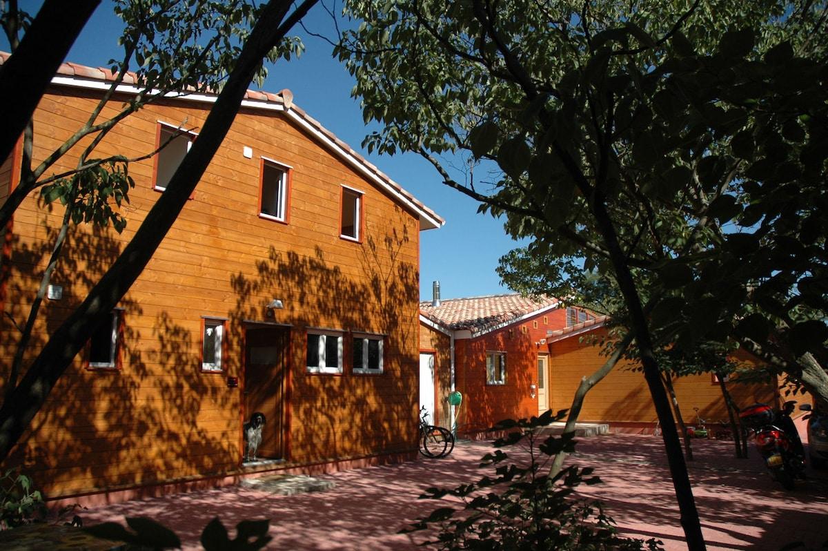 Co location dans une maison en bois