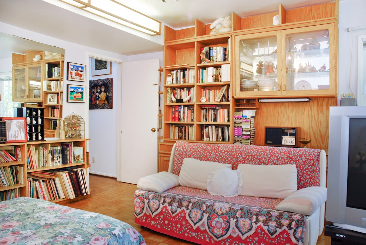 Angle of bedroom from the beds point-of-view