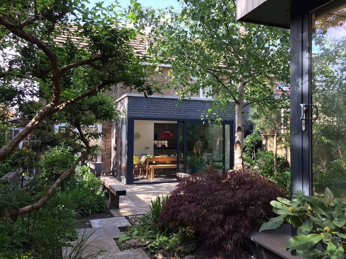 Cool house + designer garden/studio