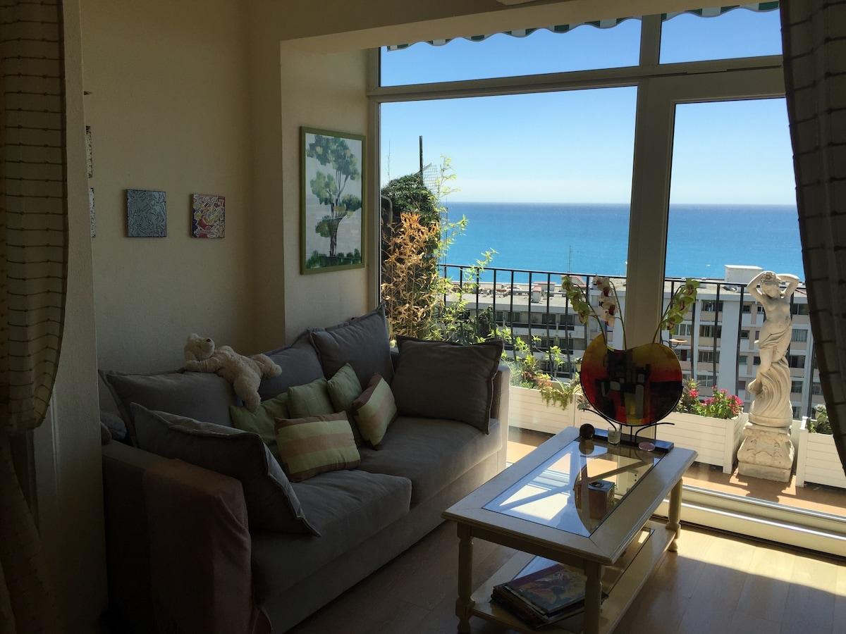 Appartement avec vue mer plein sud
