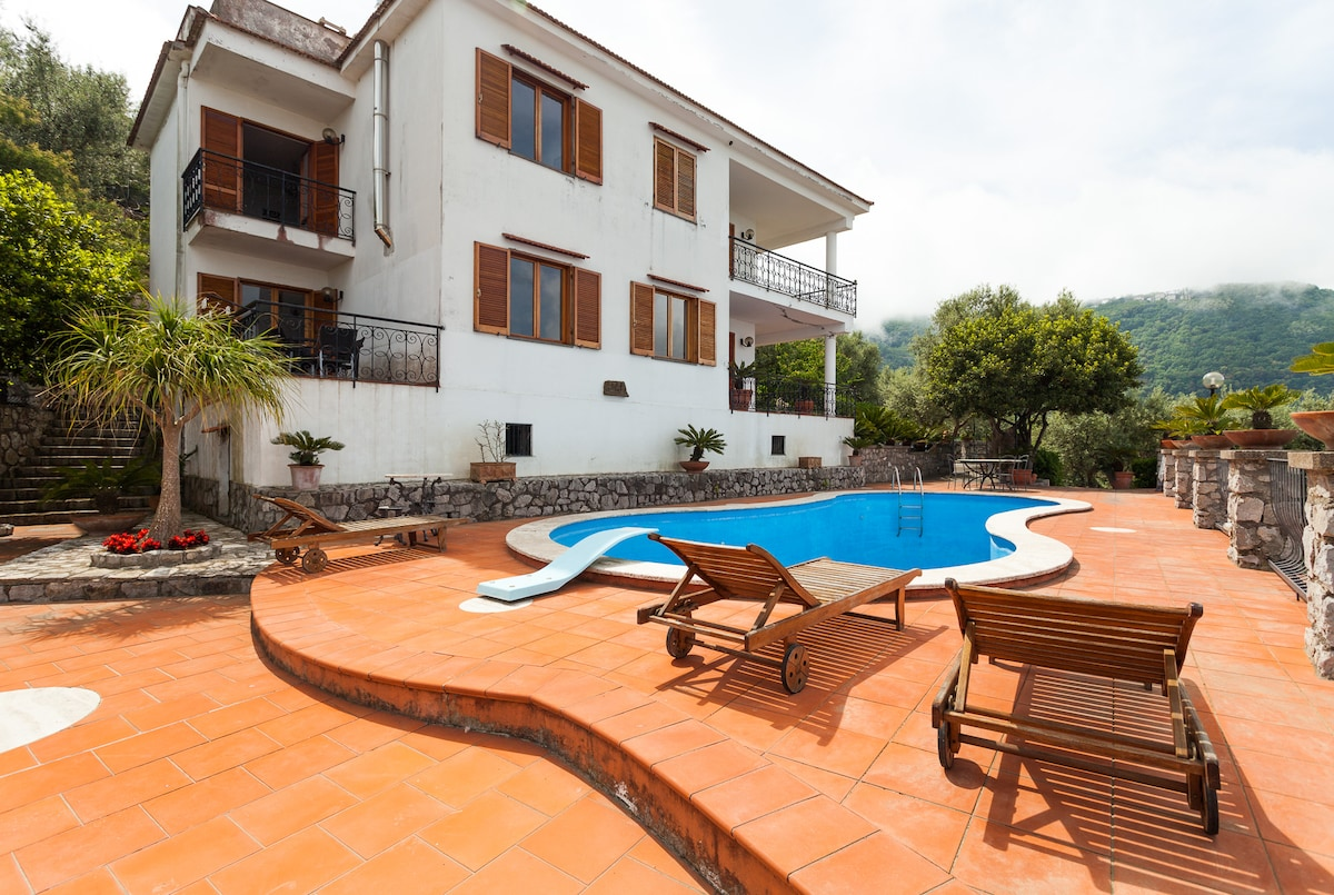Villa with great pool and sea view