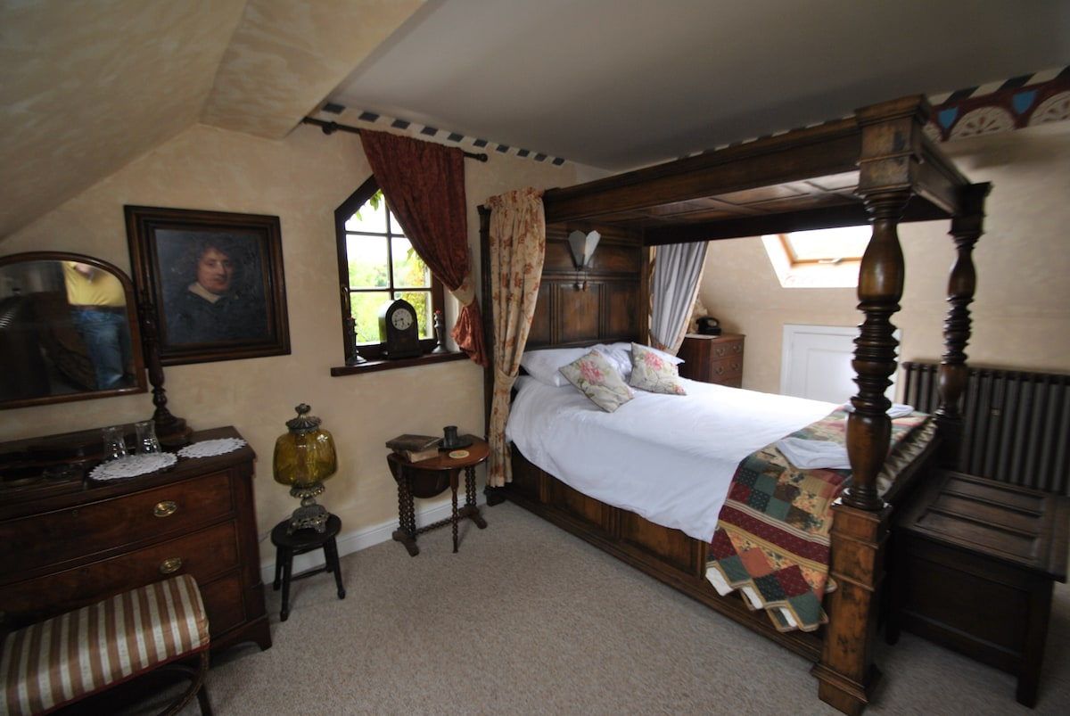 The Main bedroom; Ensuite with four poster king size bed (can be booked via our other listing page)