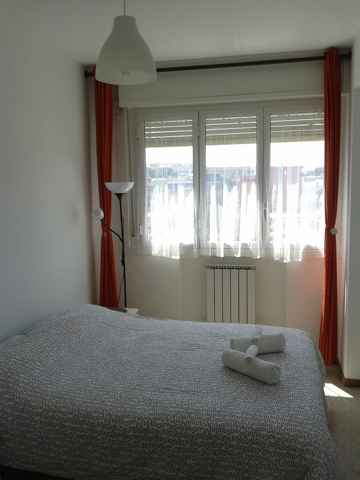 luminous double bedroom