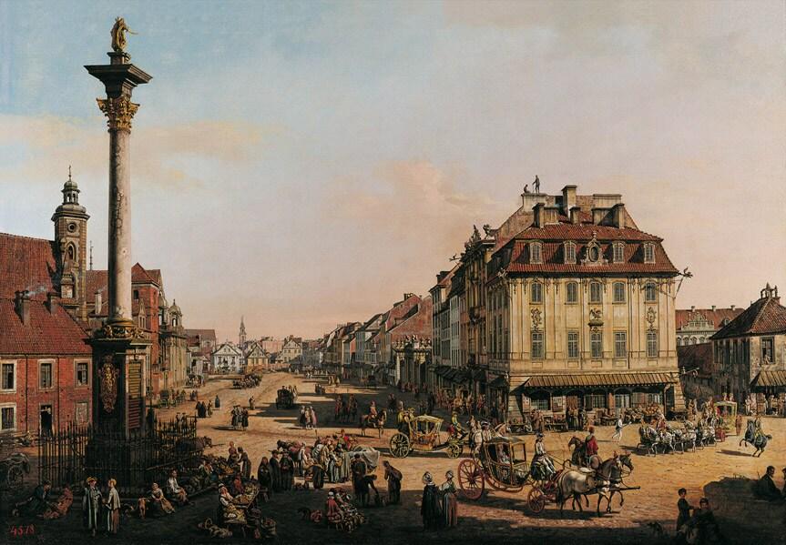 Castle Square, Warsaw by Bernardo Bellotto 240 years ago.