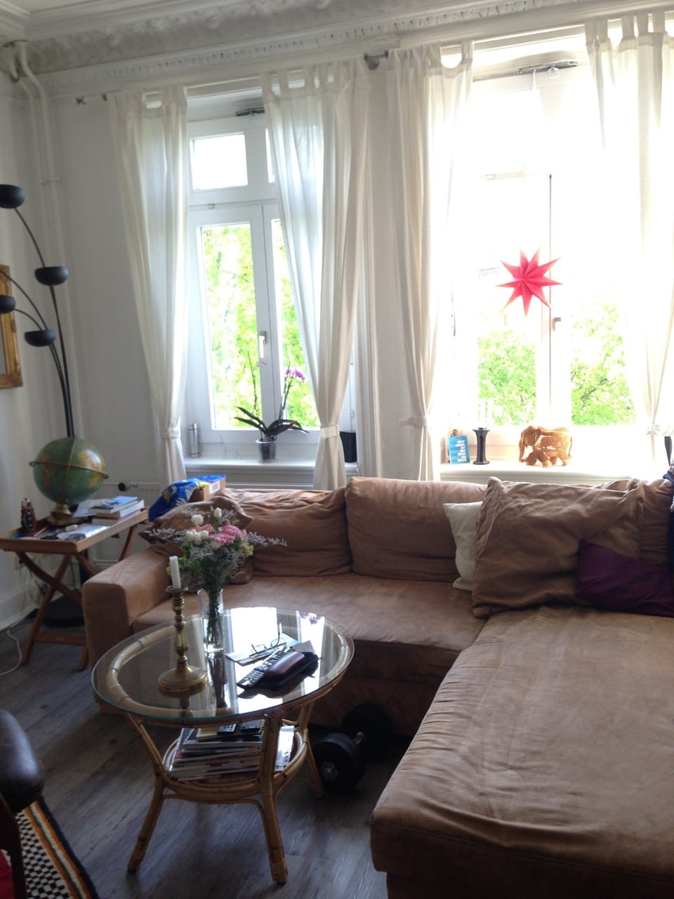 Very bright apartment in the center
