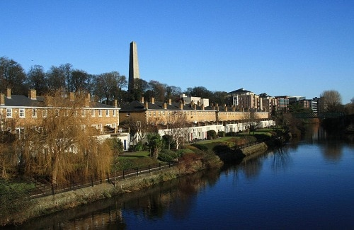 My apartment (on two levels) overlooks the river, to the front is the Phoenix Park