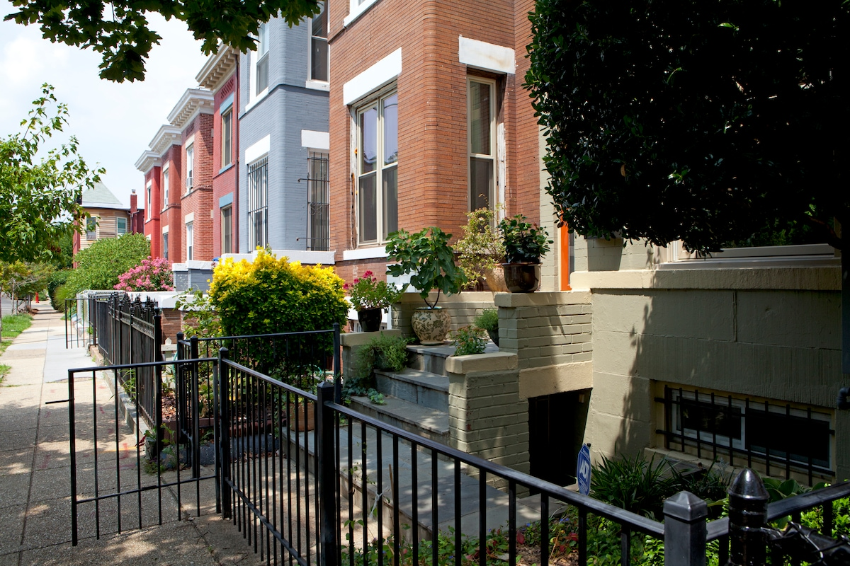 The houses on our block were built around 1915, and many have been restored in recent years.