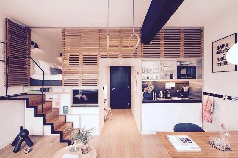 very modern &function loft