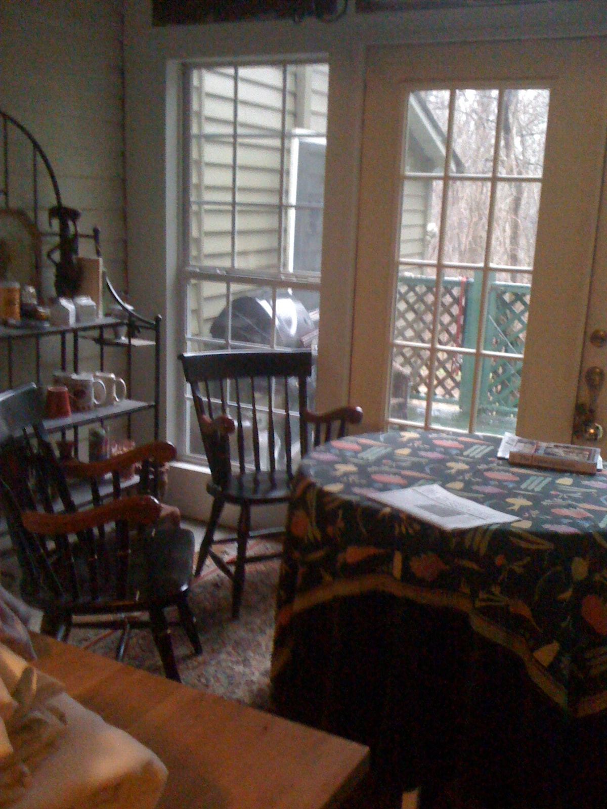 Small sunroom off the kitchen.  Perfect for coffee and tea