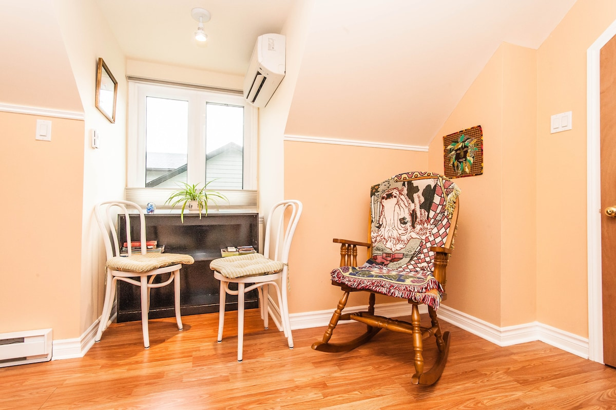 East Alcove with Rocking Chair & Library