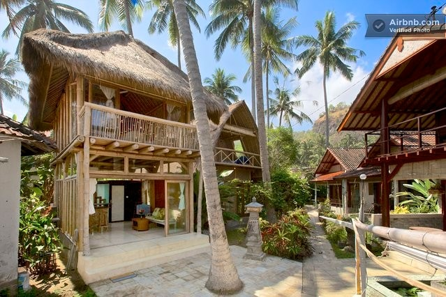 Bamboo House on the beach Candidasa