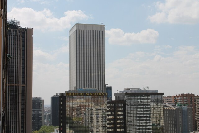 Incredible views of the financial centre of Madrid