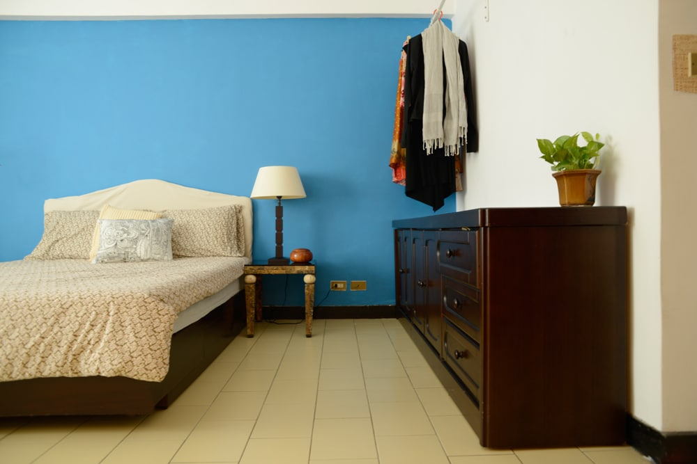 Bright comfortable large bedroom