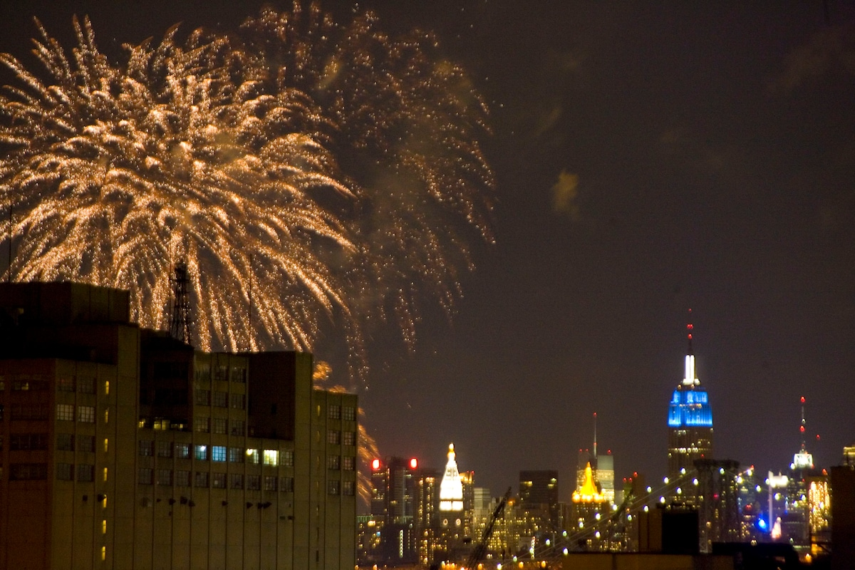 If you're lucky, you may be able to catch some fireworks from the roof!!!  no joke!
