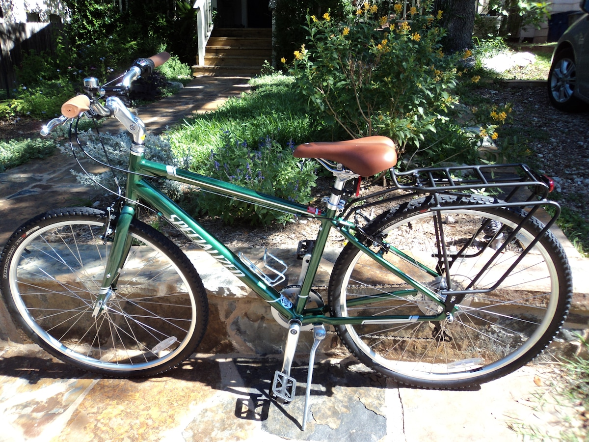 Exclusive use of two Specialized Crossroads hybrid bikes with all accessories.