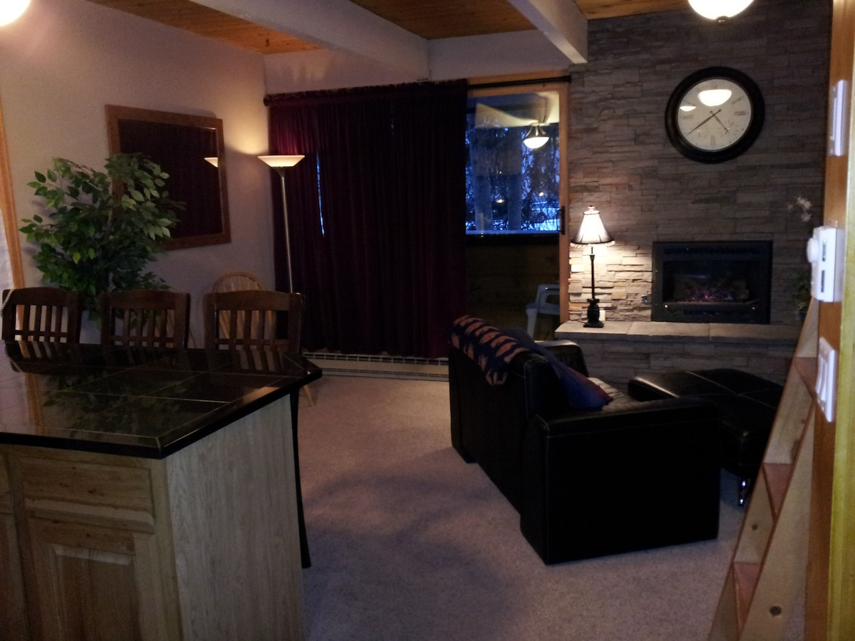 Our living area free of sofa sleepers and Murphy beds.