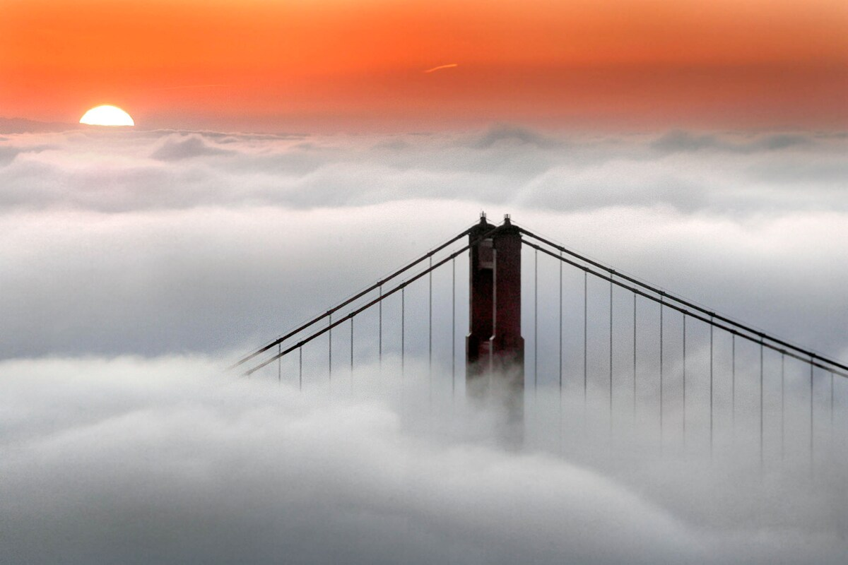 Beautiful Golden Gate sunrises are only 10 minutes from your front door