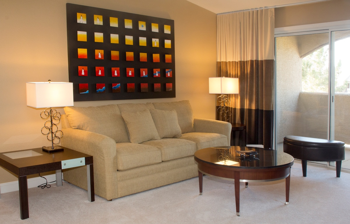 This executive oasis has everything you need to enjoy your stay while getting your work done.
