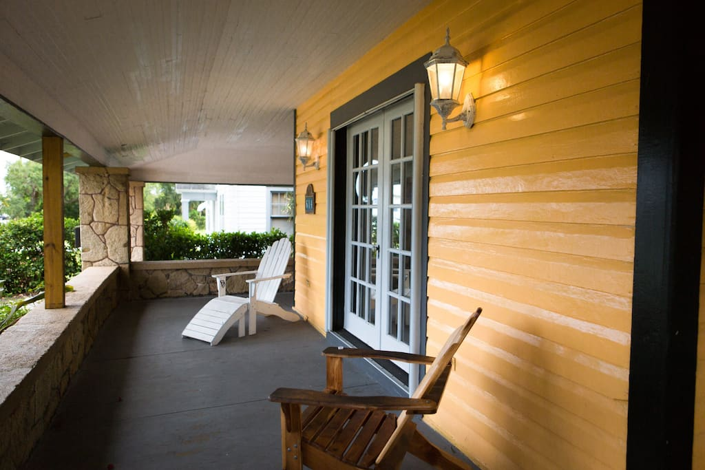 Gear front porch that overlooks the Harbor. Relax and enjoy