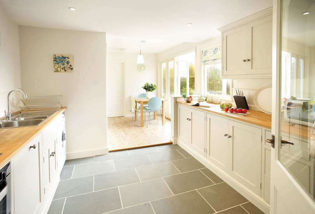 Ground floor: Kitchen which has breakfast table and chairs