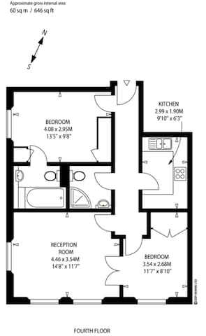 Floorplans with entrance from lift lobby at the top