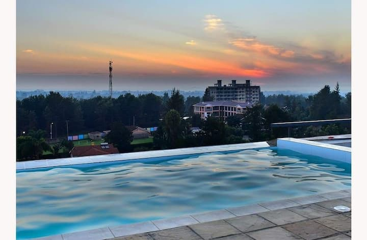 Scenic View Studio Kiambu Road, WiFi, Pool, Lift