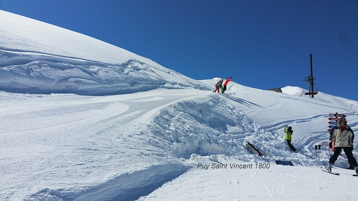 Ski slopes situated nice flat | French Alps