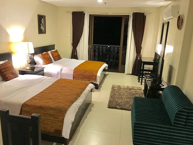 Elegant Room with comfortable bed and mattress.