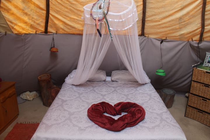 Luxury Tipi in Wild Forest Paradise