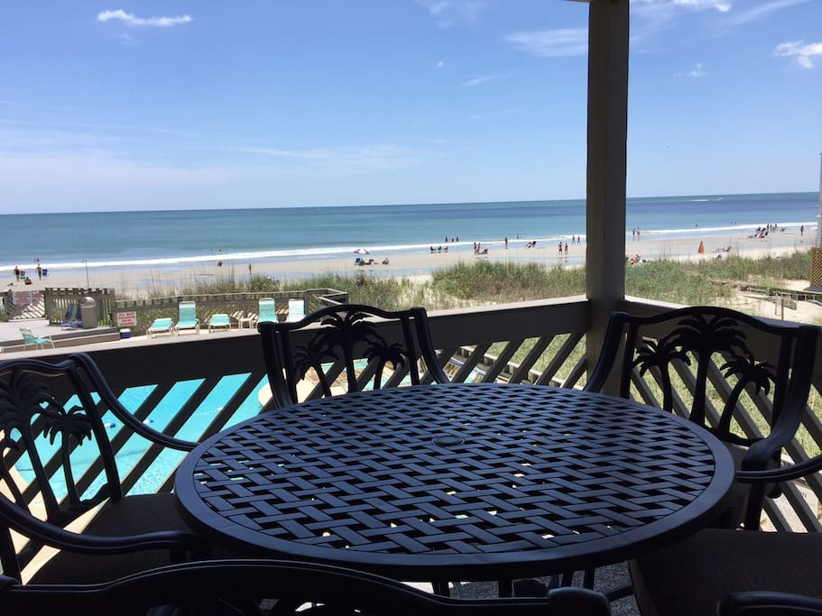 Balcony View - 100 Yards from Beach