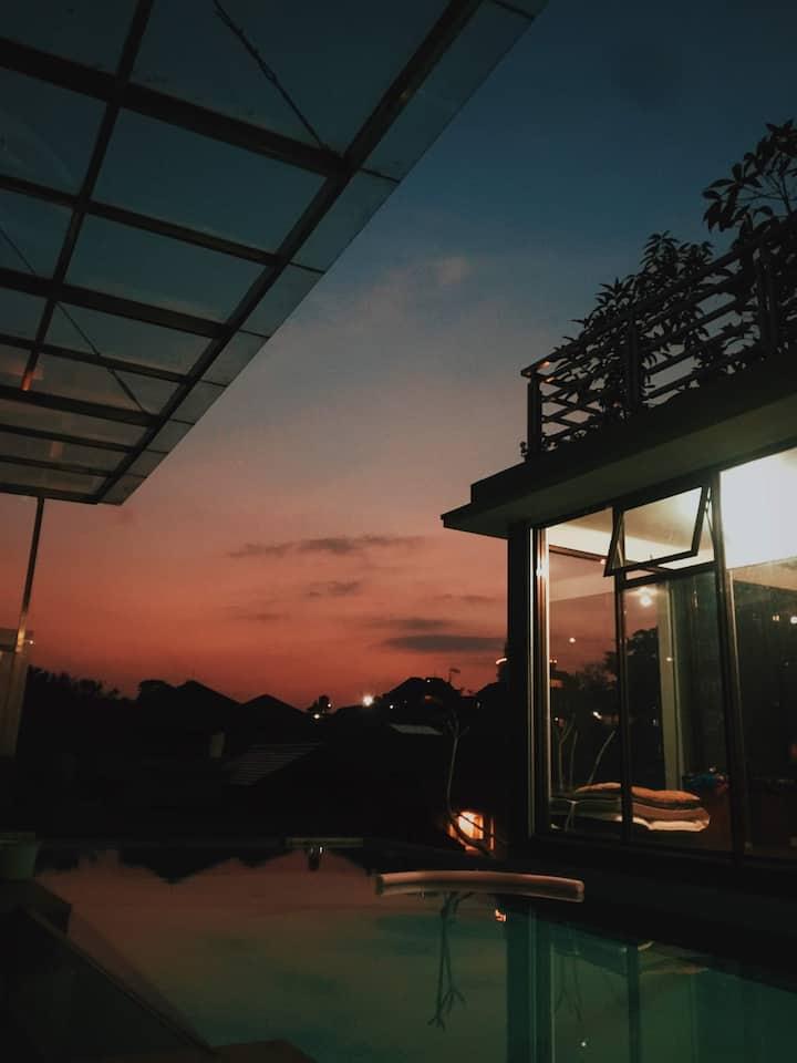 Nikanaya Villa With Private Sky Jacuzzi View Timur