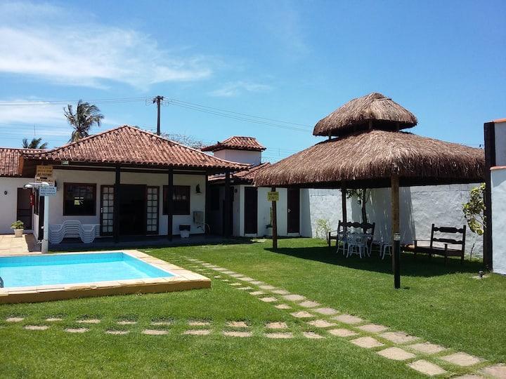 450mts da praia Geribá, piscina, ar,vaga, wifi