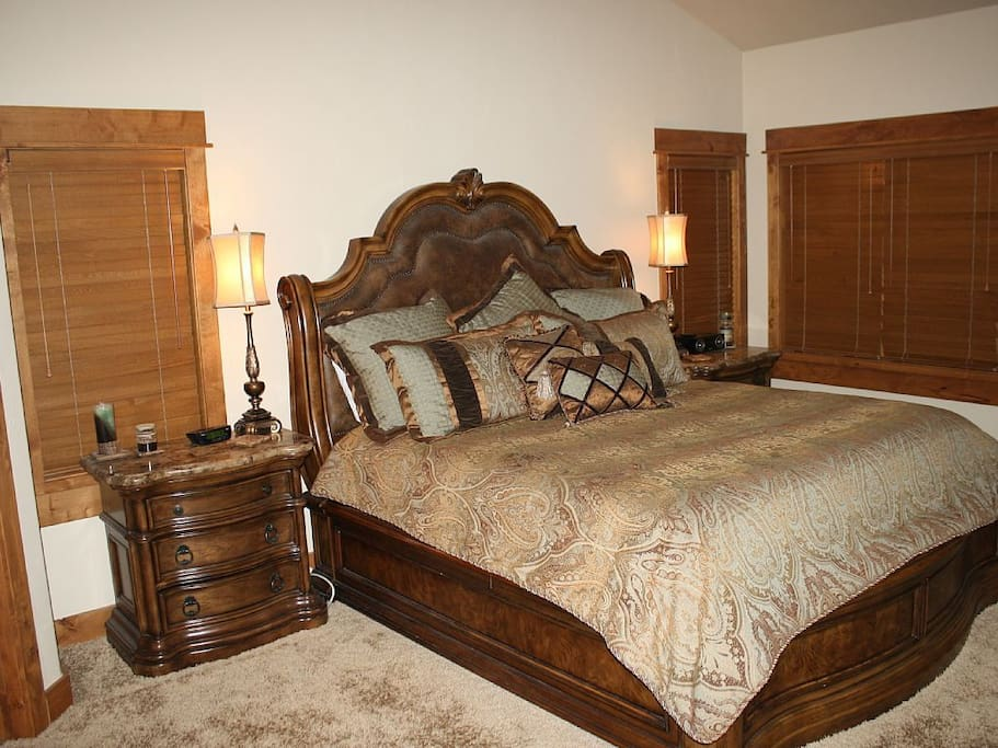 Master Bedroom Includes a King Bed and Private Bath