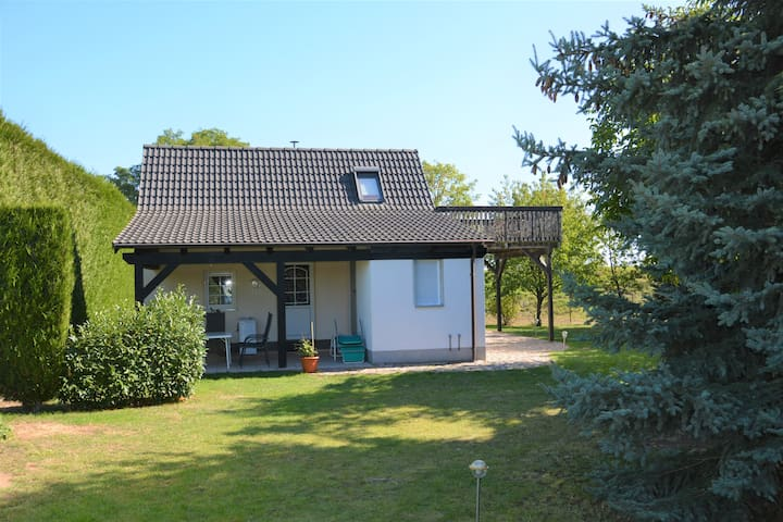 Blick auf die untere Terrasse / Garten