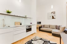 Welcome to our modern, cosy and fully equipped apartment in heart of the Old Town! Charles bridge is three minutes by walk and the Old Town square is six minutes away! Feel the atmosphere of historical Prague.