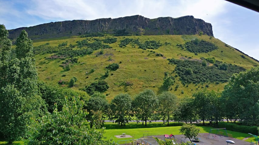 Newly Renovated Room with Holyrood park view