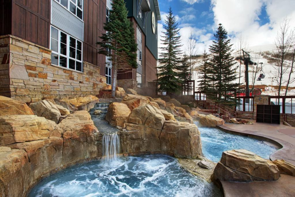 Relax in the hot tub after skiing