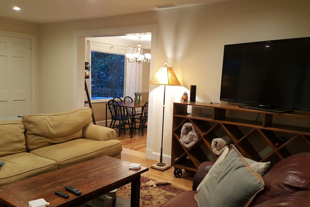 Living Room with Sofa and Loveseat
