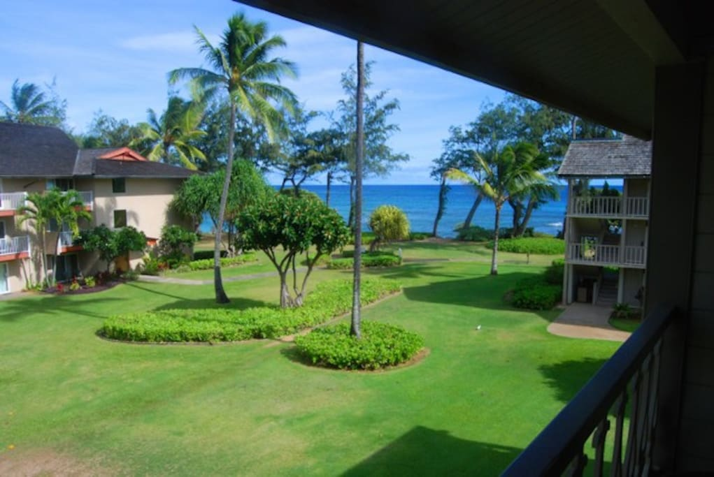 Ocean and garden views from this 3rd level condo!