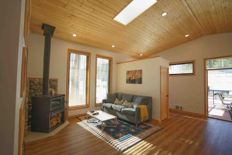 Brand new private cottage on acreage, in town.