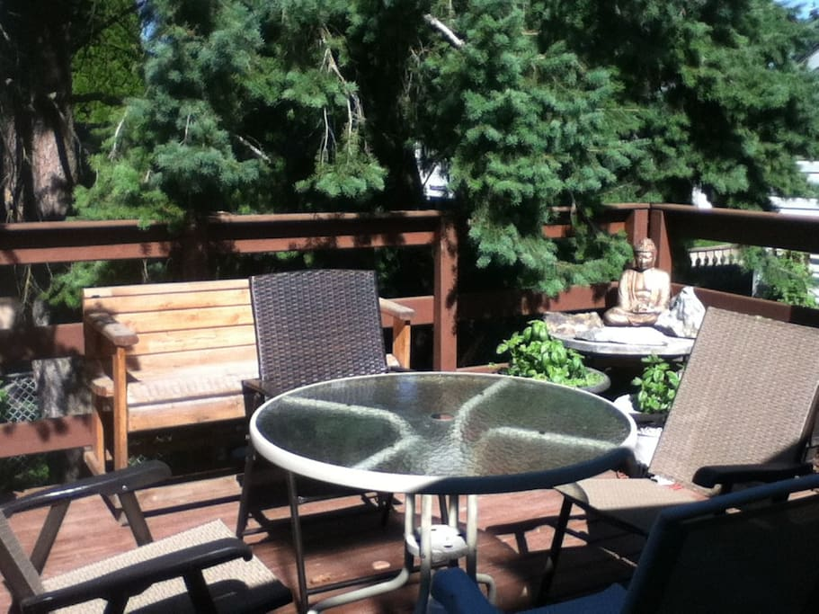 Large outdoor deck.