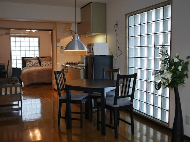 JR Koriya→ JR NARA(5Min) free wifi - Yamatokoriyama - Appartement