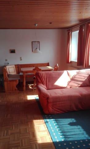 Ferienhof Jungkunz (Schwarzenbach am Wald), Rollstuhlgeeignete Ferienwohnung mit Südterrasse und kostenfreiem WLAN